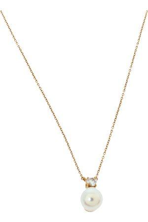 Tiffany & Co. Tiffany & Co Diamond Cultured Pearl 18K Yellow Gold Pendant Necklace