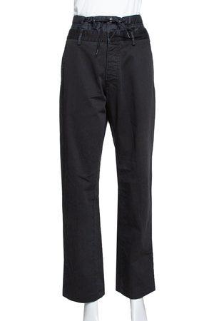 Prada Black Denim Distressed Effect Regular Fit Pants L