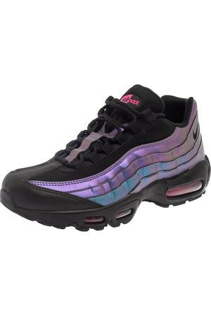 424 FAIRFAX Nike Air Max 95 Black/Purple Leather Marathon Running Sneaker Size 42.5
