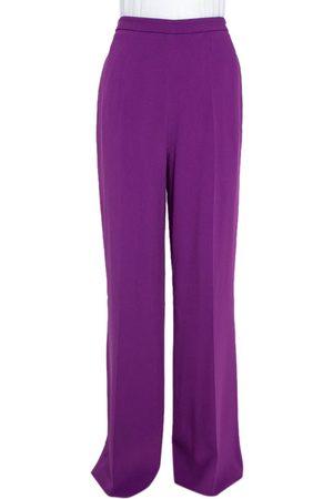 Roberto Cavalli Purple Wide Leg Trousers L