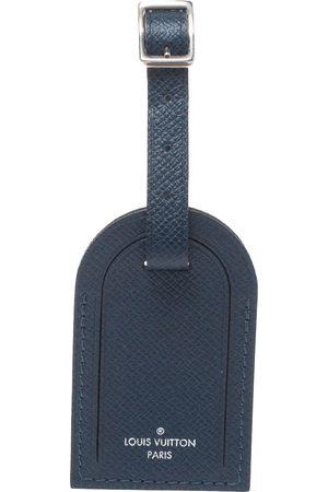 LOUIS VUITTON Blue Infini Taiga Leather Luggage Name Tag