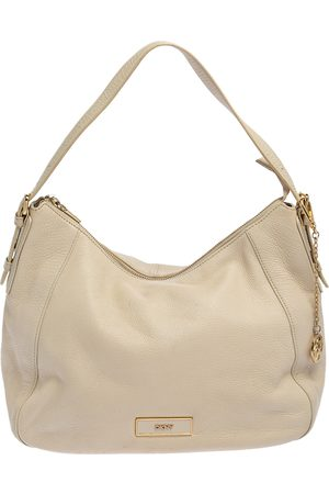 DKNY White Leather Hobo