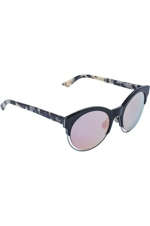 Dior Havana/ Green & Pink Mirrored Sideral1 Round Sunglasses