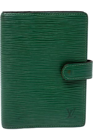 LOUIS VUITTON Green Epi Leather Small Ring Agenda Cover