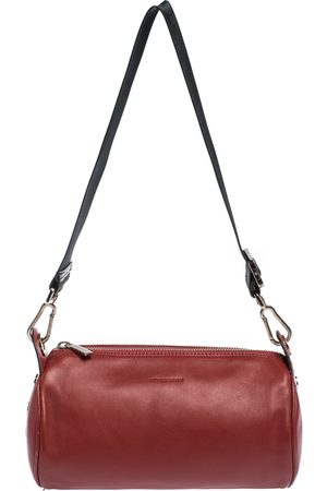 Burberry Red Leather Small Duffel Bag