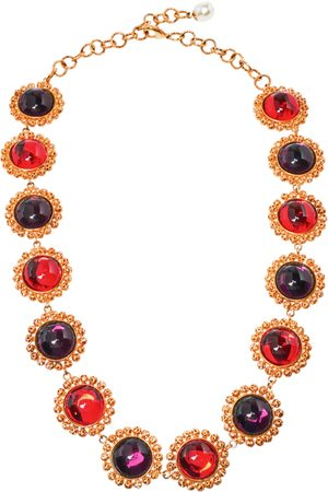 Dolce & Gabbana Red Crystal Embellished Necklace