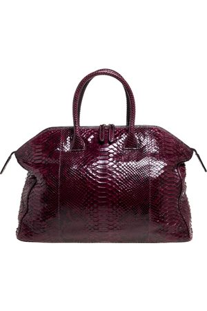 ZAGLIANI Red Python Tomodachi Weekender Bag