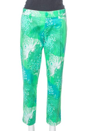 Gucci Green Floral Print Cotton Holiday Jeans M