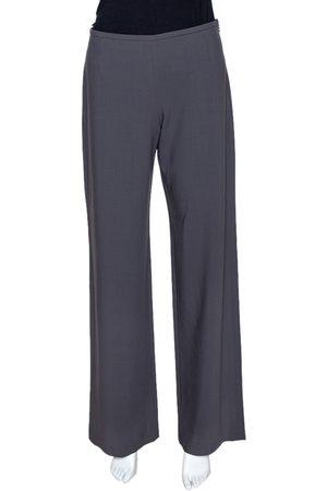 Armani Grey Wool Wide Leg Pants S