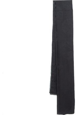 Hermès Black Hologram Motif Silk Chiffon Stole