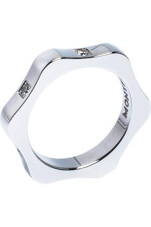 Mont Blanc 4810 Star Diamond 18K White Gold Band Ring 50