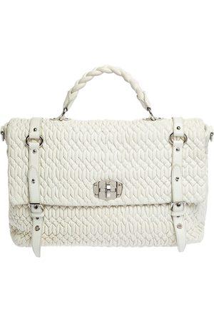 Miu Miu White Matelasse Nappa Leather Turnlock Top Handle Bag