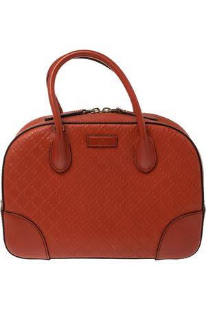 Gucci Orange Diamante Leather Small Bright Satchel