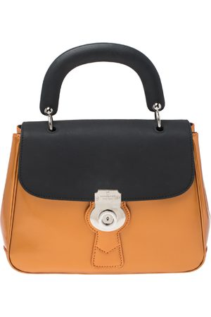Burberry Tri Color Patent and Leather Medium DK88 Top Handle Bag