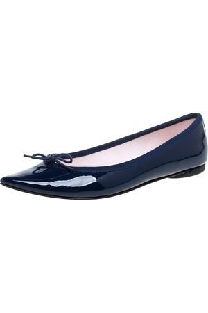 Repetto Blue Patent Leather Brigitte Pointed Toe Ballet Flats Size 37
