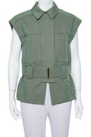 Stella McCartney Green Canvas Belted Vest M