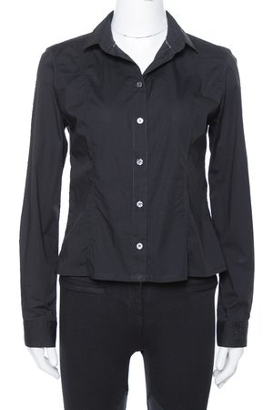 Burberry Brit Black Stretch Cotton Long Sleeve Shirt M