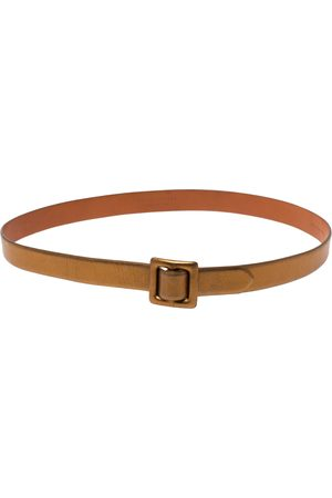 Ralph Lauren Gold Leather Buckle Belt 100CM