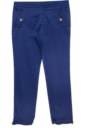 Gucci Royal Blue Stretch Cotton Cropped Trousers S