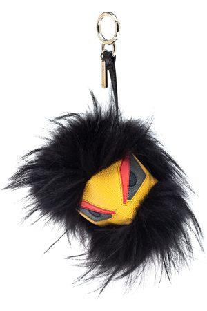 Fendi Yellow Fur and Leather Eyes Bug Bag Charm