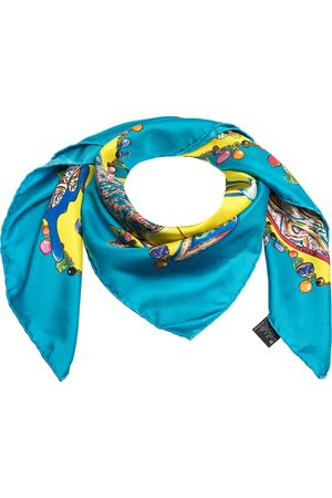 Etro Multicolor Printed Silk Square Scarf