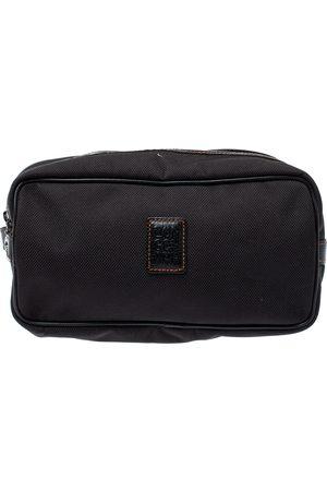 Longchamp Black Canvas Cosmetic Pouch