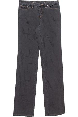 Alexander McQueen Vintage Dark Grey Sanded Denim Straight Leg Jeans S