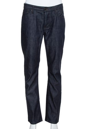 Burberry Navy Blue Denim Straight Leg Steadman Jeans S
