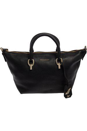 Diane von Furstenberg Black Leather Sutra Tote