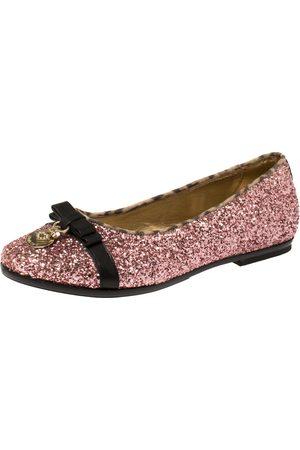Roberto Cavalli Pink Glitters Ballet Flats Size 37