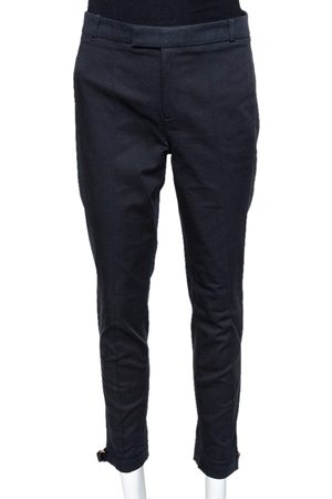 Gucci Black Cotton Tailored Trousers S