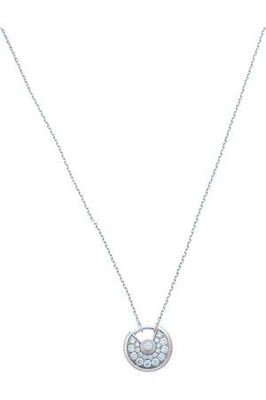 Cartier Amulette de Diamond 18K White Gold Pendant Necklace