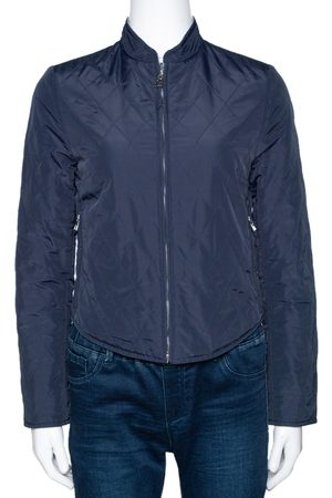Hermès Navy Blue Quilted Reversible Jacket XS