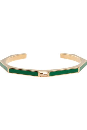 Fendi Green Enamel Baguette Bracelet S
