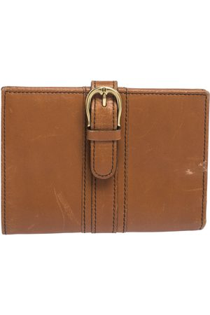 Aigner Tan Leather Compact Wallet