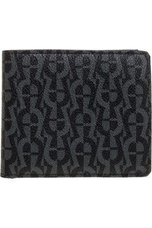 Aigner Black/Grey Monogram PVC Bifold Wallet