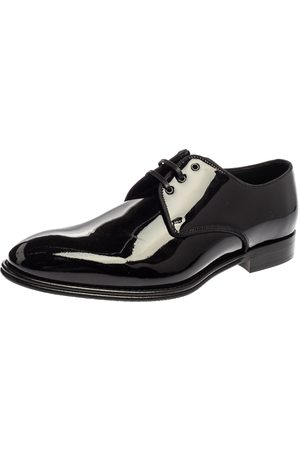 Dolce & Gabbana Dolce and Gabbana Black Patent Leather Lace Up Oxfords Size 41.5