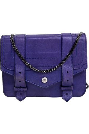 Proenza Schouler Blue Leather PS1 Wallet On Chain