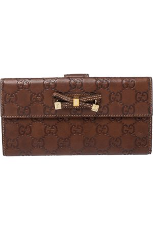 Gucci Brown ssima Leather Princy Continental Wallet