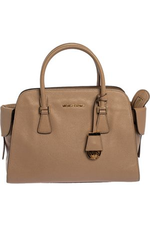Michael Kors Beige Leather Gia Satchel