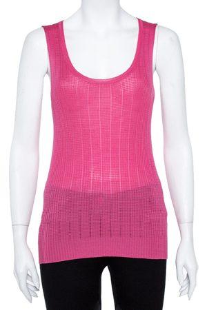 M Missoni Pink & Blue Knit Tank Top and Cardigan Set M/L