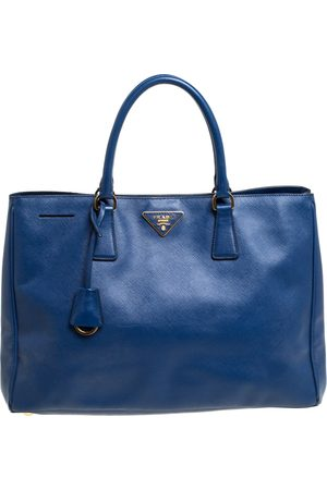 Prada Blue Saffiano Lux Leather Large Tote
