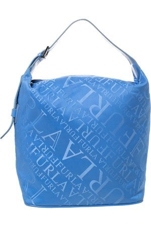 Furla Blue Nylon and Leather Hobo