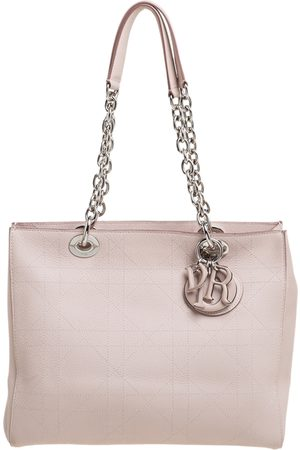 Dior Nude Beige Cannage Leather Medium Ultra Tote