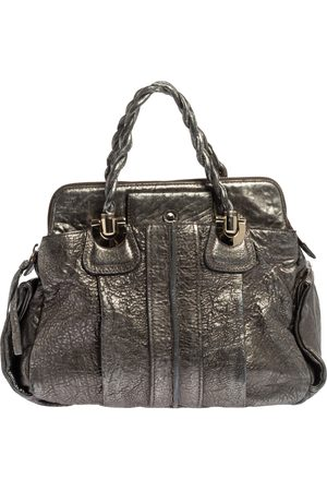 Chloé Metallic Textured Leather Heloise Satchel