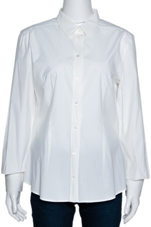 Dolce & Gabbana Off White Stretch Cotton Shirt L