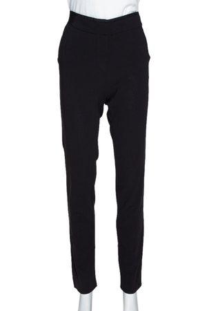 Emporio Armani Black Stretch Wool Elasticized Waist Trousers M