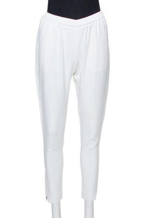 Stella McCartney White Jersey Zipper Detail Tamara Pants S