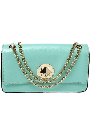 Kate Spade Mint Green Leather Grand Street Angelina Shoulder Bag