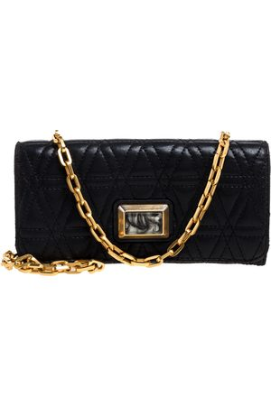 Marc Jacobs Black Quilted Leather Wallet on Chain